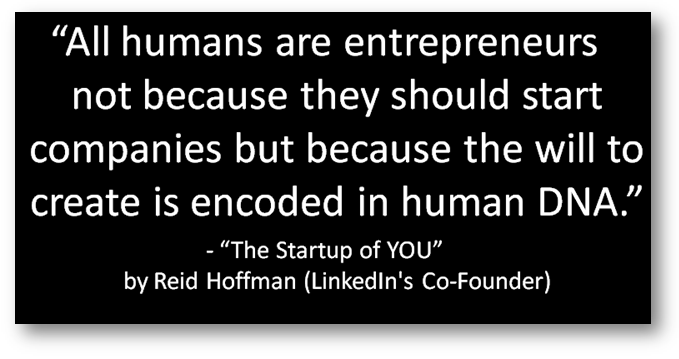 All humans are entrepreneurs